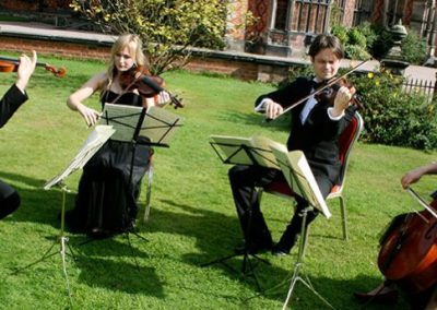 Image of the Close up of The Pachebel String Quartet playing live