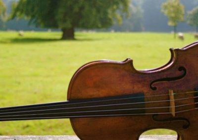 Pachebel String Quartet piano close up