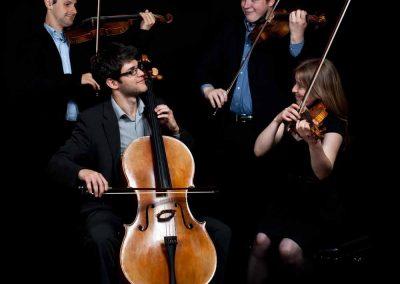 image of the endymion quartet rehearsing