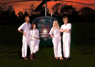 ABBA Forever helicopter Shoot