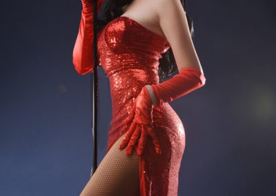 Katy Perry tribute red dress image