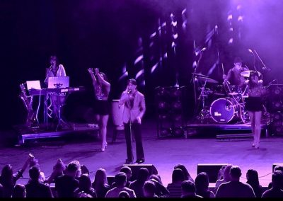 Mark As Prince Live On Stage With His Band