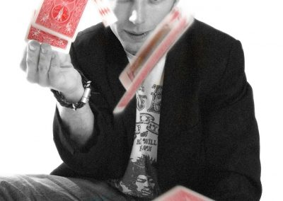 Paul Dawson Scoop Magician flying cards 1
